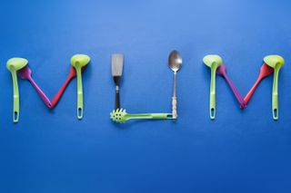 Mum With Kitchen Utensils