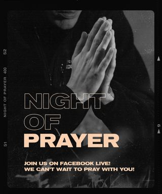 NIght of Prayer Social Post