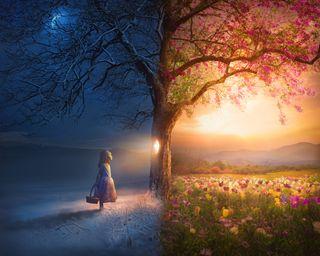 Child and Seasons
