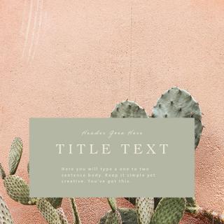 Desert Template | Four