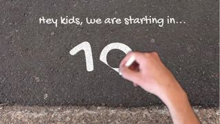 Sidewalk chalk countdown