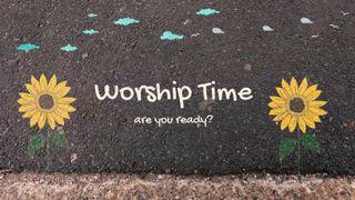 Sidewalk chalk worship bumper