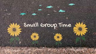 Sidewalk chalk small group