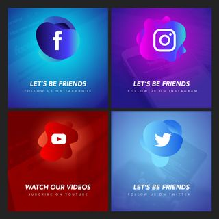 Follow Us Social Bundle