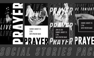 Live Prayer Social Stories