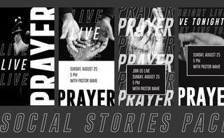 Live Prayer Social Stories