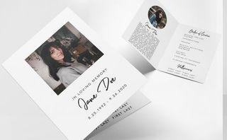 Minimal Funeral Folder