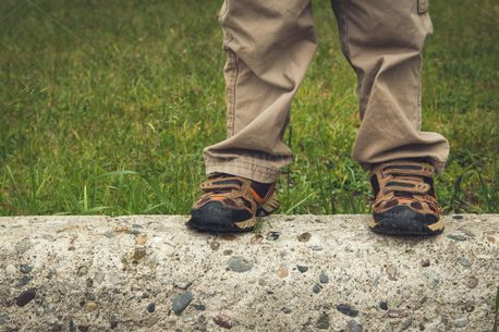 Boy's Feet On Cement (89770)