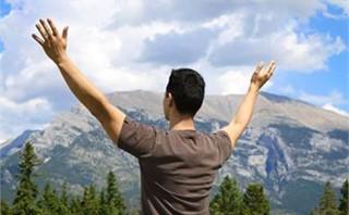 Man Praising and Worshipping