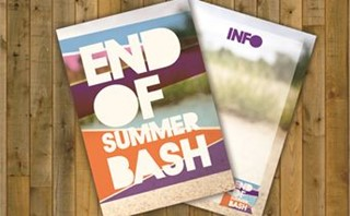 end of summer bash post cards