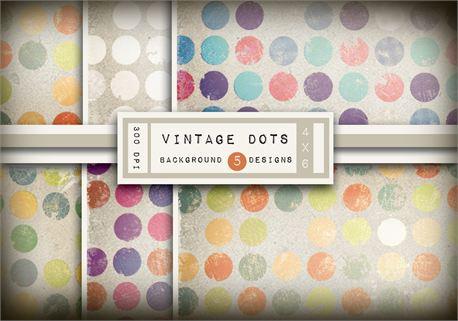 Vintage Dot Backgrounds (9942)