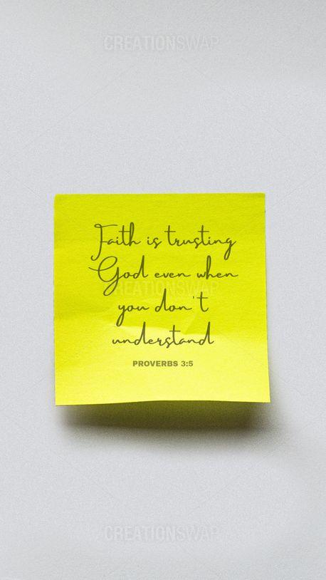 Faith is trusting God (90134)