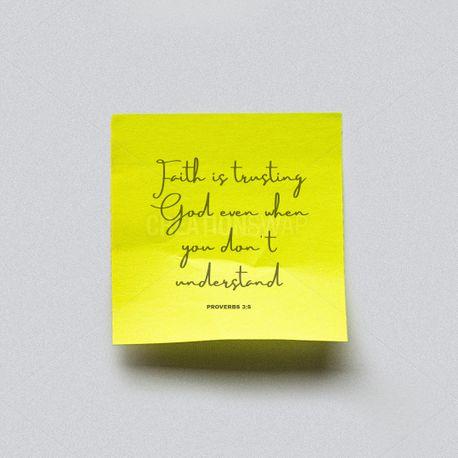 Faith is trusting God (90135)