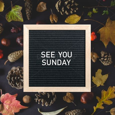 See You Sunday Letter Board (90187)