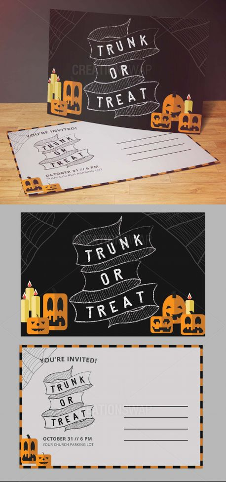 4x6 Trunk or Treat Invite (90552)
