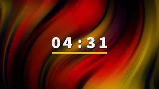 orange gradient countdown