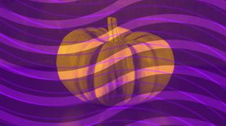 Pumpkin Swirl Background