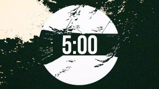 Posterized Countdown Circle