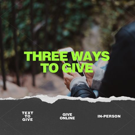 3 ways to give (91225)