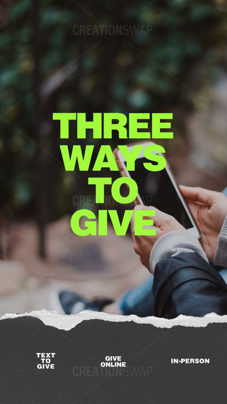 3 ways to give (91226)