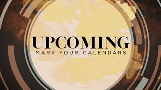 Upcoming Events Fall Slide