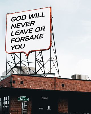 God will never leave - social