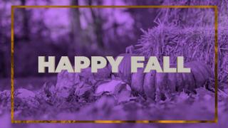 Purple Pumpkin Happy Fall