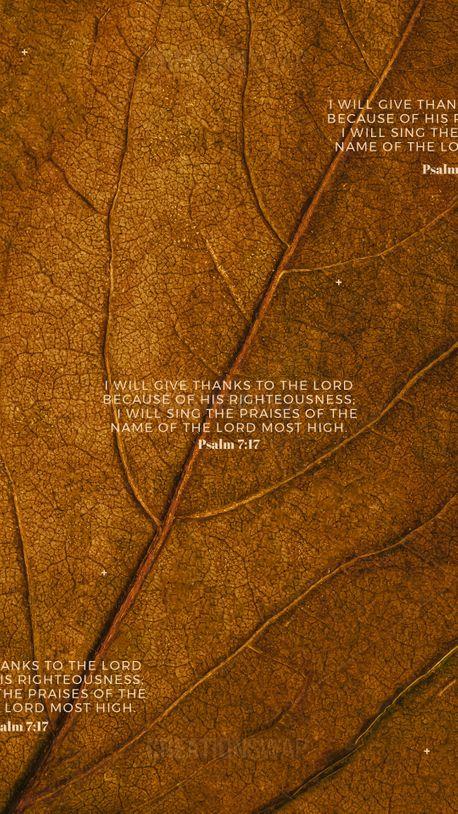 Psalm 7:17 (92417)