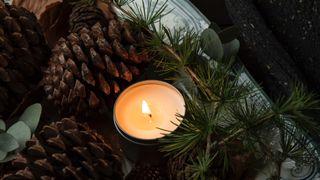 Christmas holiday candle