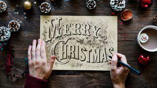Christmas holiday sign
