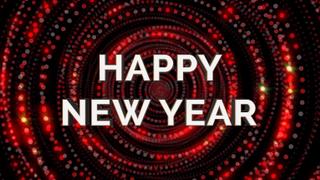 Glitter Circle New Year