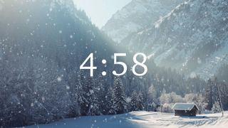 Snow Cabin Countdown