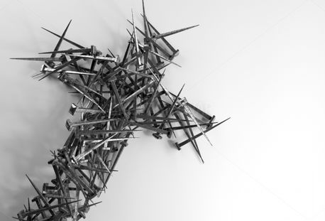 Cross made of nails (93115)
