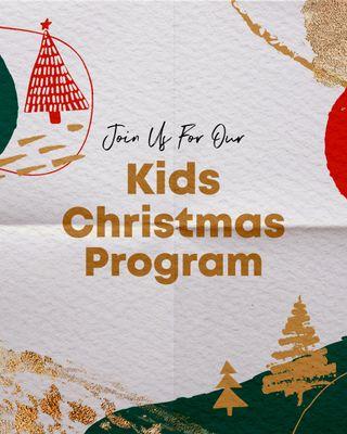 Kids Christmas Program