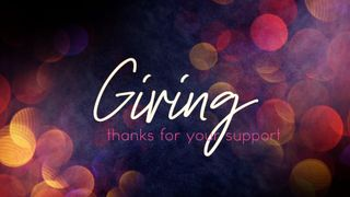 Celebrate20 : Giving