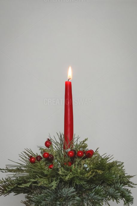 Christmas Candle Decoration (93437)