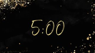 Black and Gold Countdown