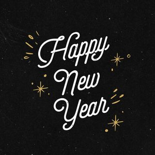 Happy New Year Black Gold