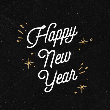 Happy New Year Black Gold (93630)