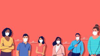 Social Distance Title Graphics