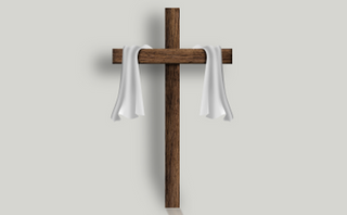Cross with transparent shadow