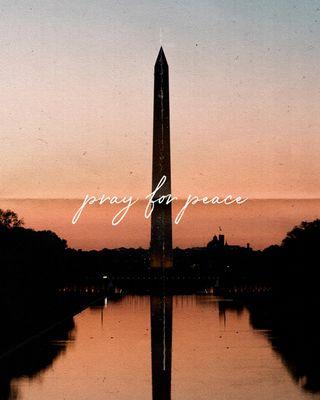 Pray for peace social media