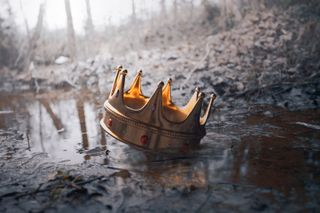 Crown resting in water