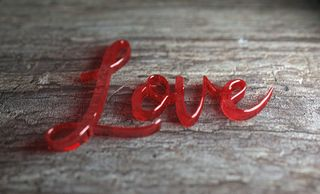Love in Glass Letters