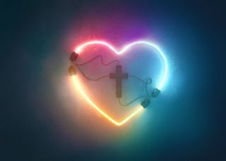 Heart Plugged Into Cross
