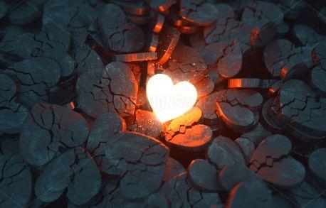 Glowing Heart Among Broken One (94193)