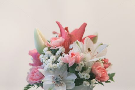 Pink and White Flowers (95305)