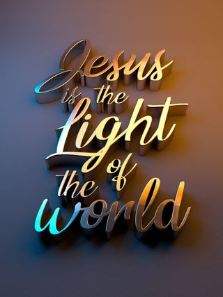 Jesus is the light of the worl