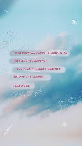 Psalm 36:5 | Scripture Post