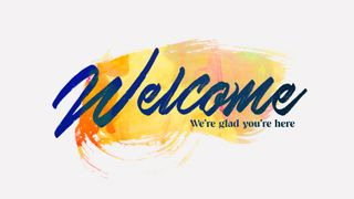 Watercolor Welcome Slide
